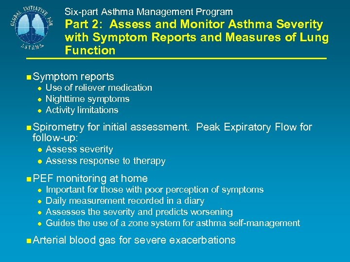 Six-part Asthma Management Program Part 2: Assess and Monitor Asthma Severity with Symptom Reports