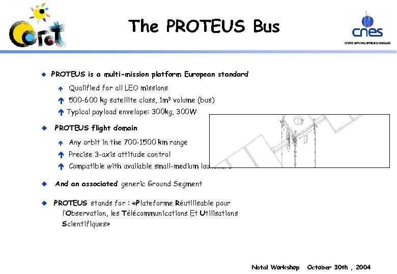 The PROTEUS Bus u PROTEUS is a multi-mission platform European standard é Qualified for