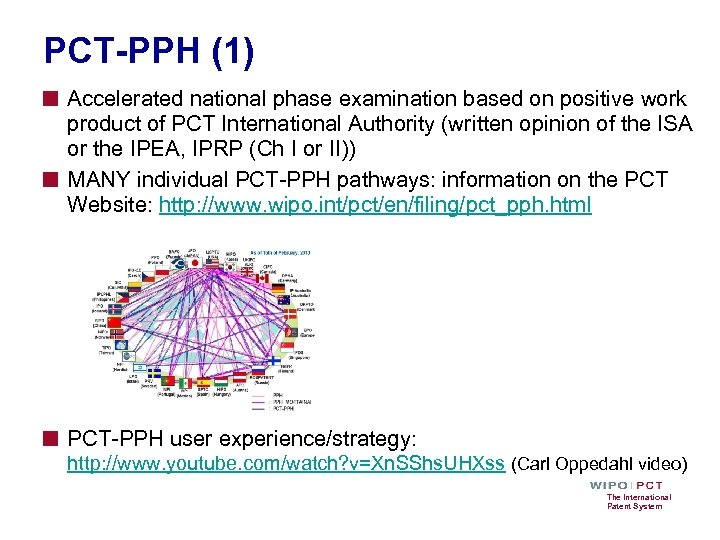 PCT-PPH (1) ■ Accelerated national phase examination based on positive work ■ product of