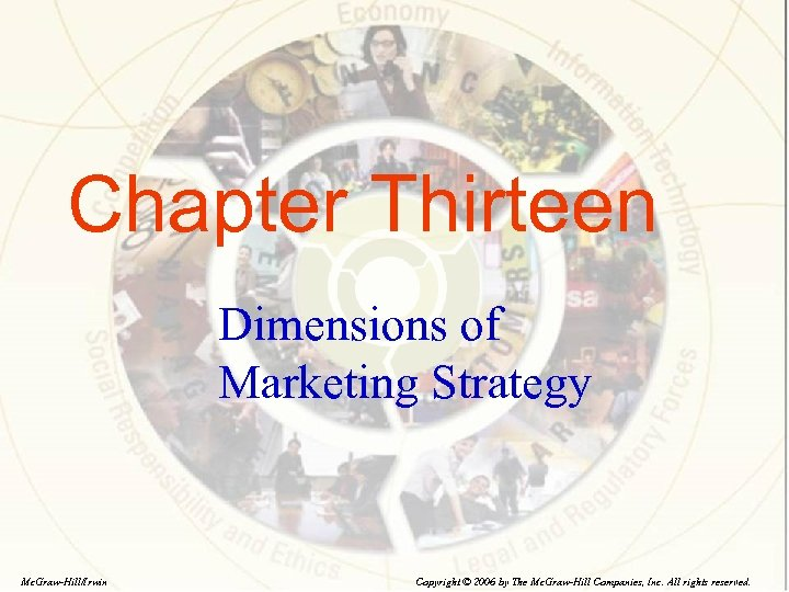 Chapter Thirteen Dimensions of Marketing Strategy Mc. Graw-Hill/Irwin Copyright © 2006 by The Mc.