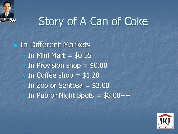 Story of A Can of Coke n In Different Markets In Mini Mart =