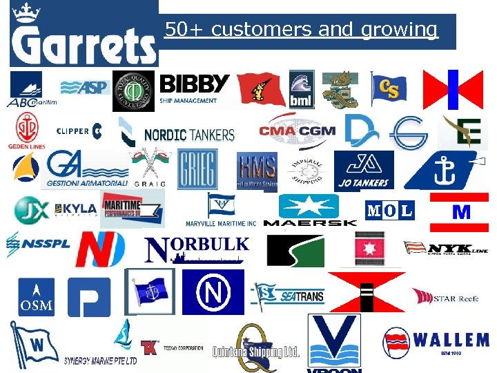 50+ customers and growing