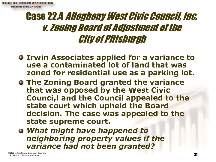 Case 22. 4 Allegheny West Civic Council, Inc. v. Zoning Board of Adjustment of