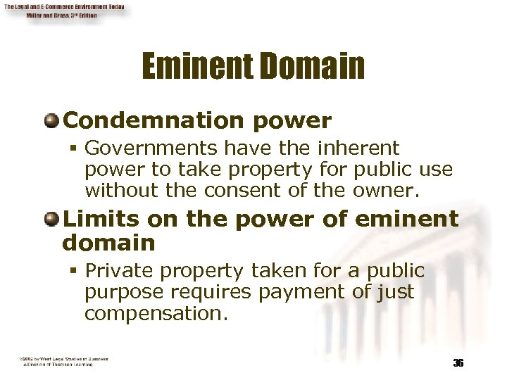 Eminent Domain Condemnation power § Governments have the inherent power to take property for