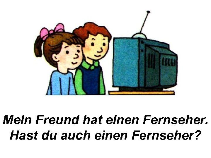 Mein Freund hat einen Fernseher. Hast du auch einen Fernseher?
