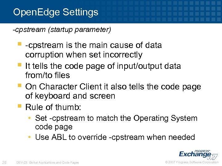 Open. Edge Settings -cpstream (startup parameter) § -cpstream is the main cause of data