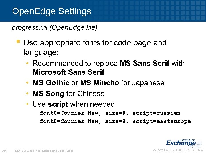 Open. Edge Settings progress. ini (Open. Edge file) § Use appropriate fonts for code