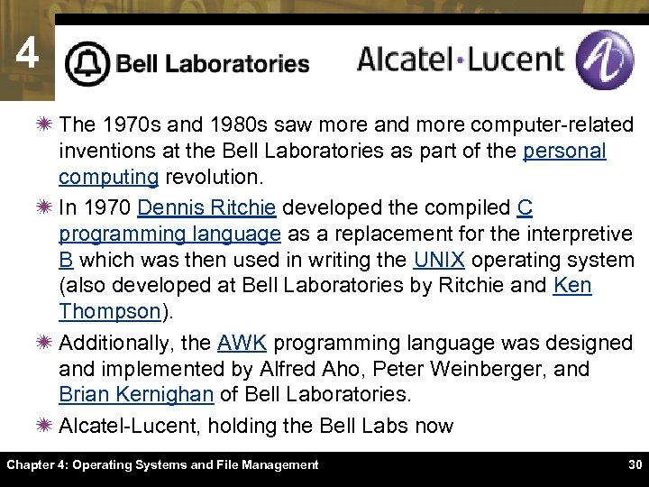 4 ï The 1970 s and 1980 s saw more and more computer-related inventions