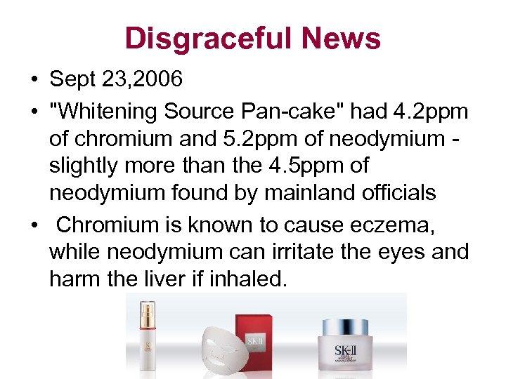 Disgraceful News • Sept 23, 2006 •
