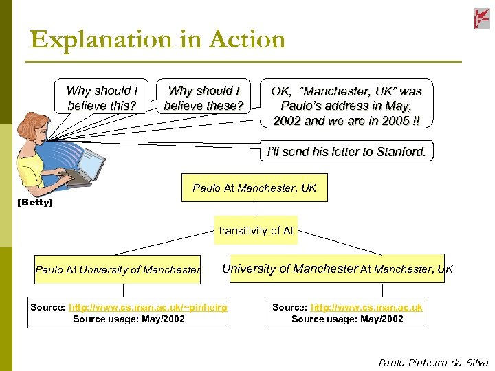 Explanation in Action Why should I believe this? Why should I believe these? OK,