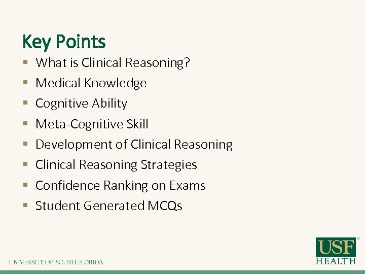 Improving Clinical Reasoning with Multiple Choice Questions