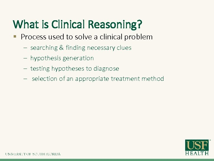 Improving Clinical Reasoning with Multiple Choice Questions Pamela