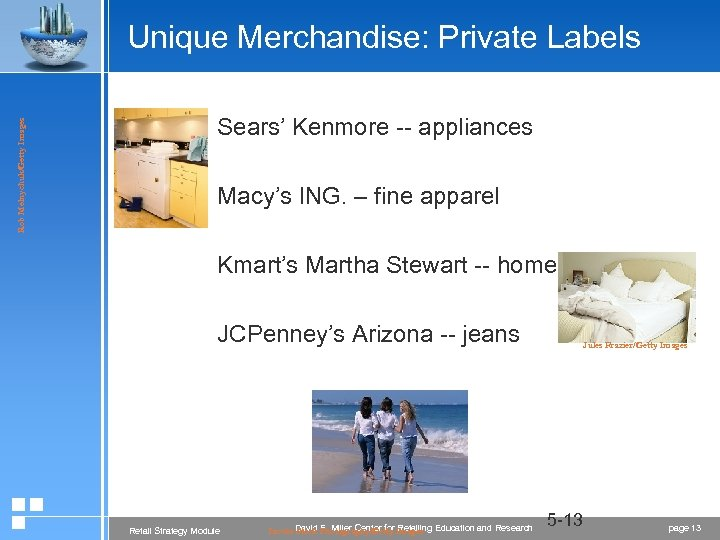 Rob Melnychuk/Getty Images Unique Merchandise: Private Labels Sears' Kenmore -- appliances Macy's ING. –