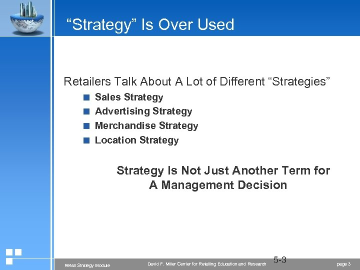 """Strategy"" Is Over Used Retailers Talk About A Lot of Different ""Strategies"" < Sales"