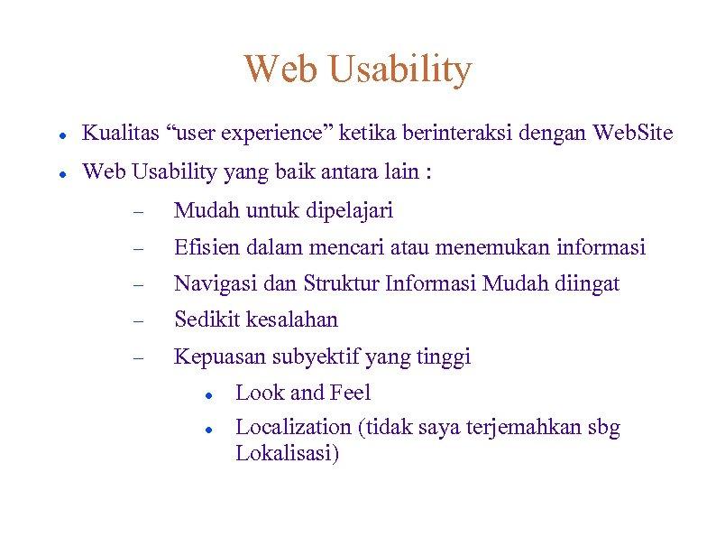 Lampiran 1 a Web Usability for Diverse