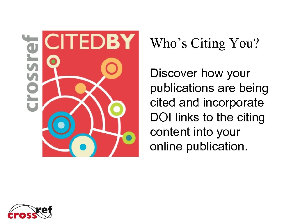 Who's Citing You? Discover how your publications are being cited and incorporate DOI links