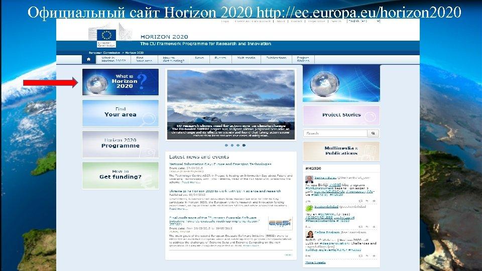 Официальный сайт Horizon 2020 http: //ec. europa. eu/horizon 2020