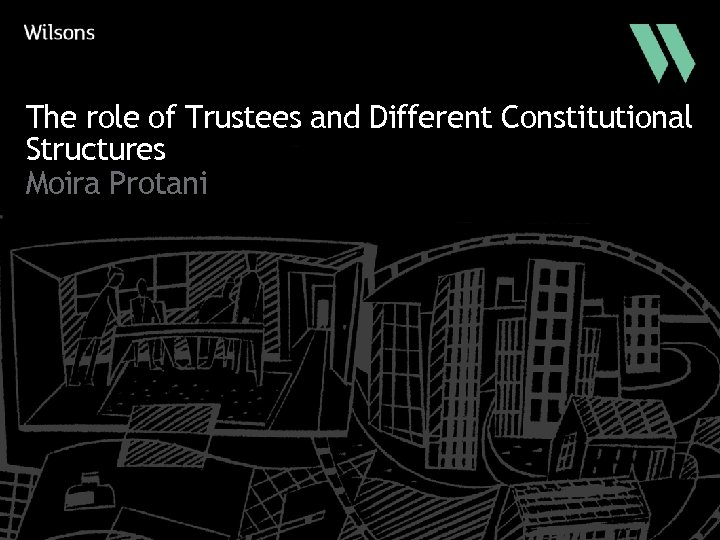 The role of Trustees and Different Constitutional Structures Moira Protani