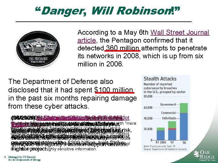 """""""Danger, Will Robinson!"""" According to a May 6 th Wall Street Journal article, the"""