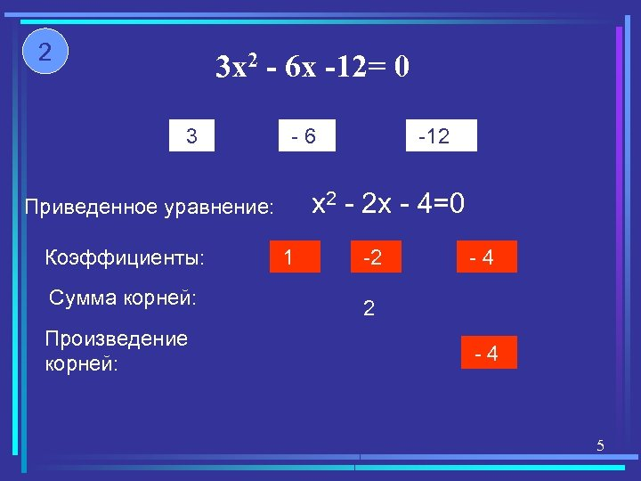 2 3 x 2 - 6 x -12= 0 3 -6 x 2 -