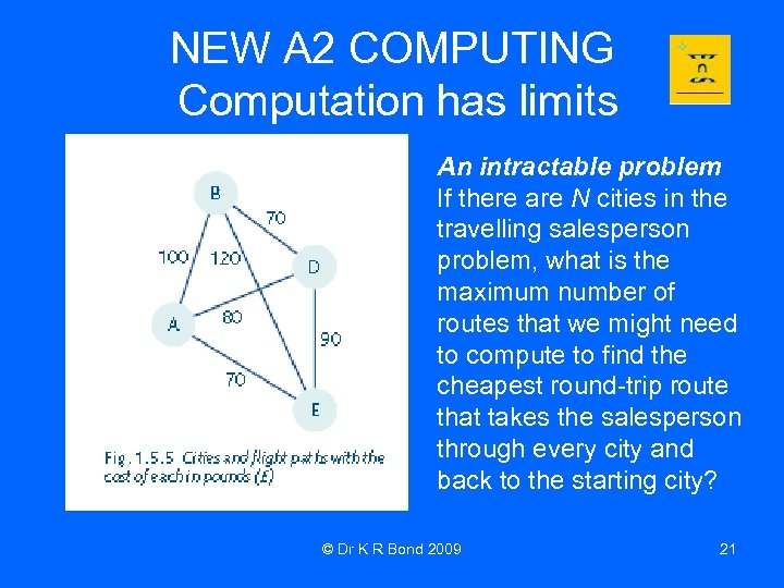 NEW A 2 COMPUTING Computation has limits An intractable problem If there are N
