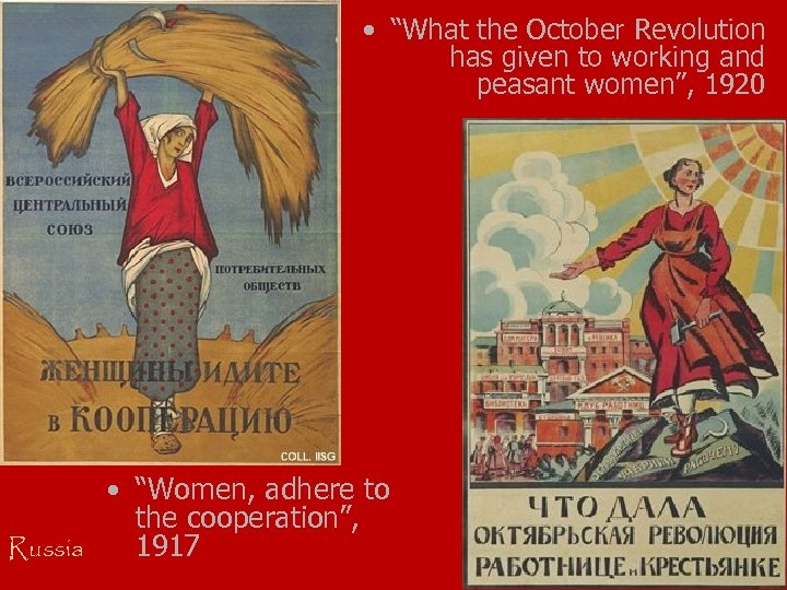 """• """"What the October Revolution has given to working and peasant women"""", 1920"""