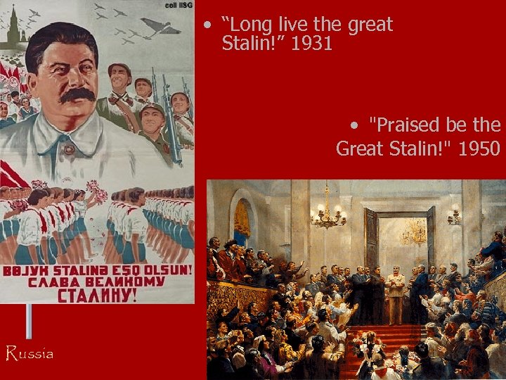 """• """"Long live the great Stalin!"""" 1931 •"""