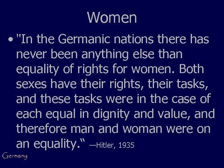 Women •