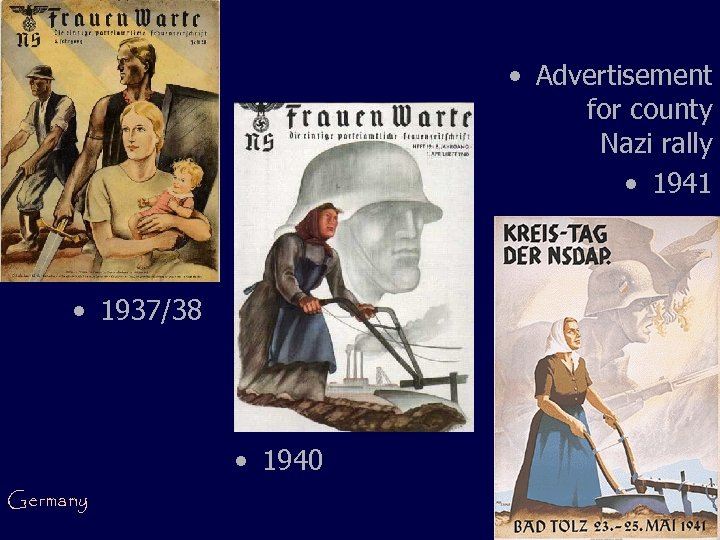 • Advertisement for county Nazi rally • 1941 • 1937/38 • 1940 Germany