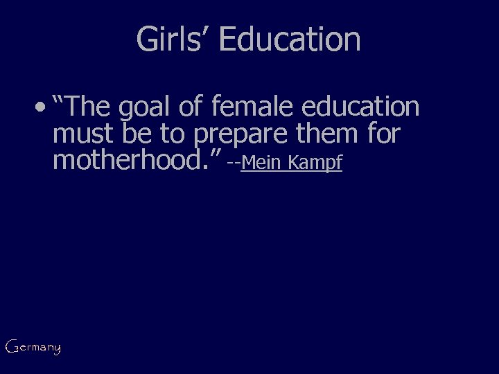 """Girls' Education • """"The goal of female education must be to prepare them for"""