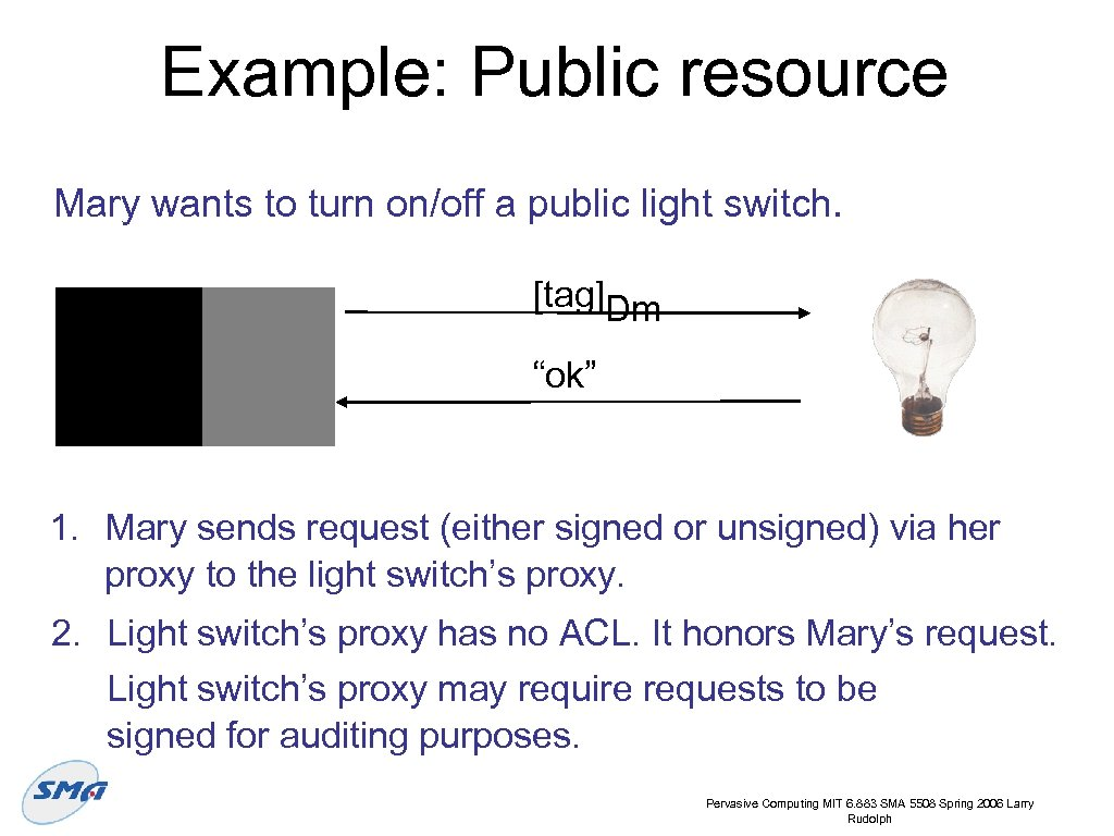 """Example: Public resource Mary wants to turn on/off a public light switch. [tag]Dm """"ok"""""""