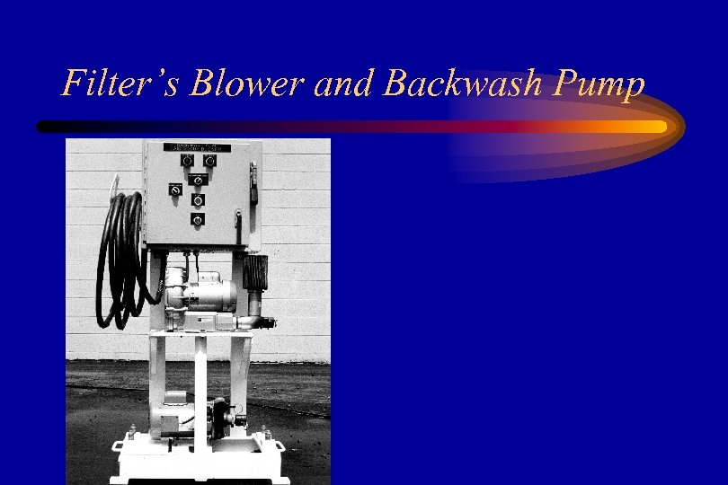 Filter's Blower and Backwash Pump