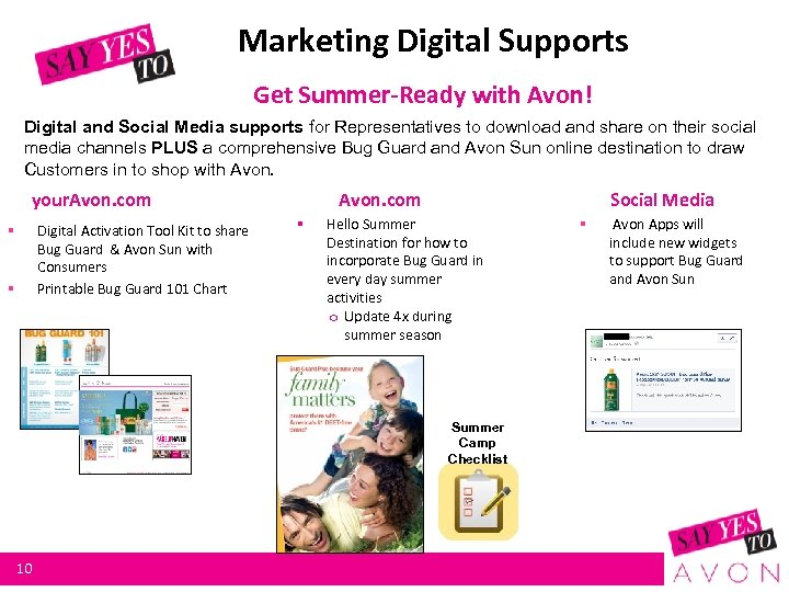 Marketing Digital Supports Get Summer-Ready with Avon! Digital and Social Media supports for Representatives