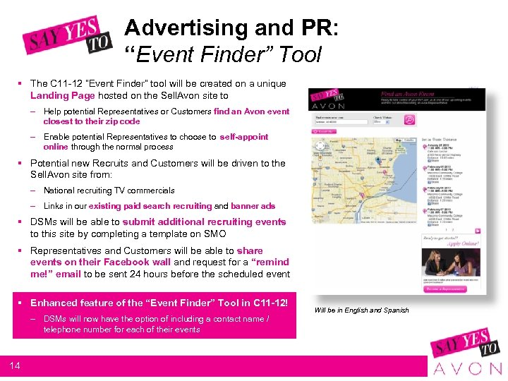 "Advertising and PR: ""Event Finder"" Tool § The C 11 -12 ""Event Finder"" tool"