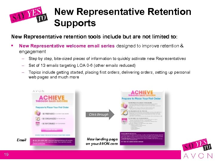 New Representative Retention Supports New Representative retention tools include but are not limited to: