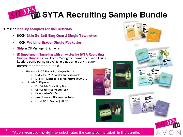 SYTA Recruiting Sample Bundle 1 million beauty samples for 850 Districts • 900 K