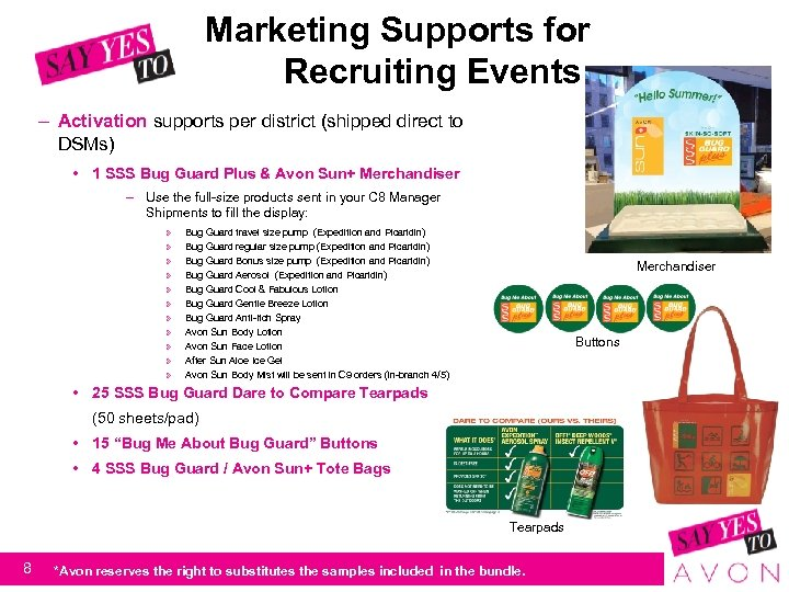 Marketing Supports for Recruiting Events – Activation supports per district (shipped direct to DSMs)