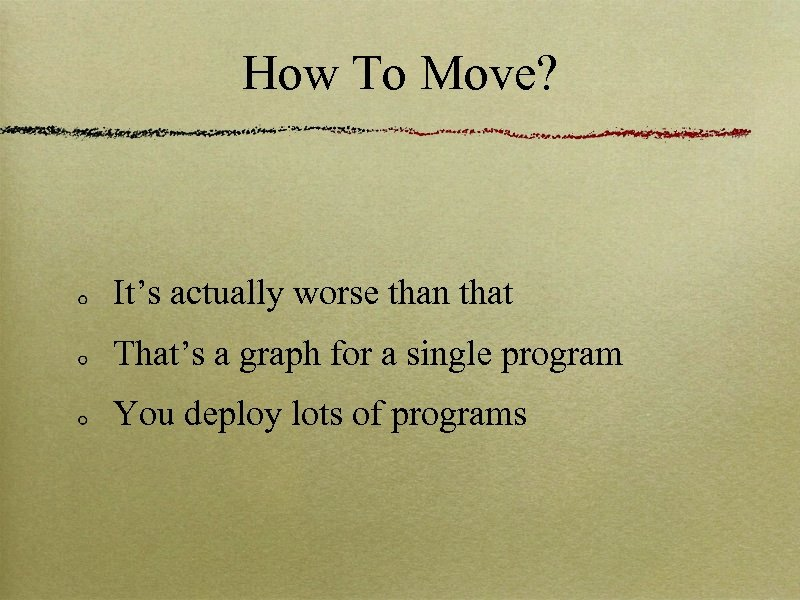 How To Move? It's actually worse than that That's a graph for a single