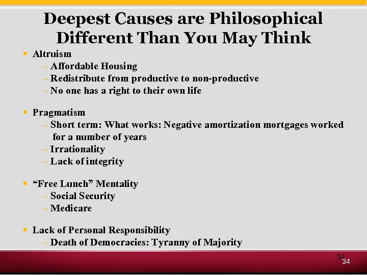 Deepest Causes are Philosophical Different Than You May Think § Altruism – Affordable Housing