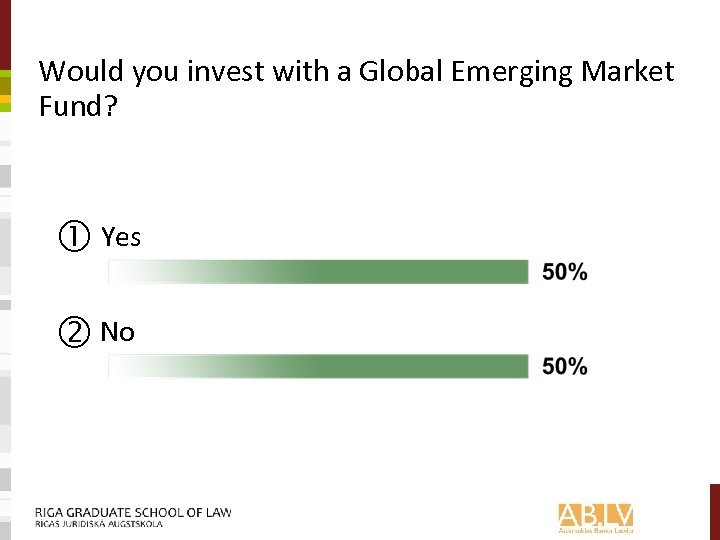 Would you invest with a Global Emerging Market Fund? Yes No