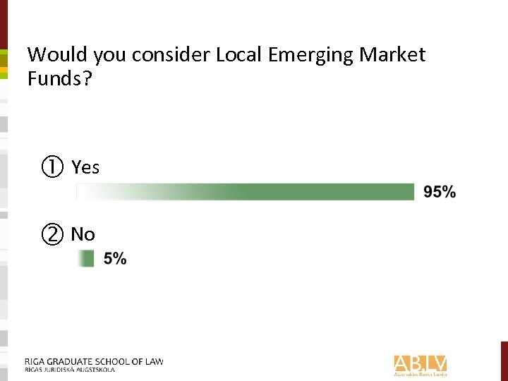 Would you consider Local Emerging Market Funds? Yes No