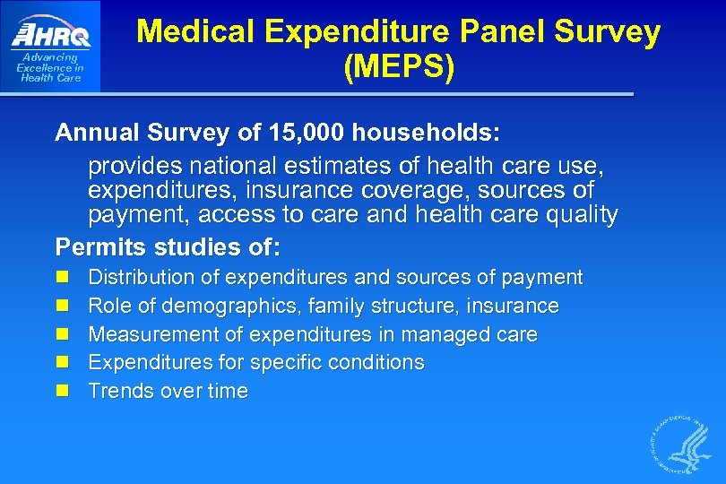 Integrated Health Care Survey Designs Analytical