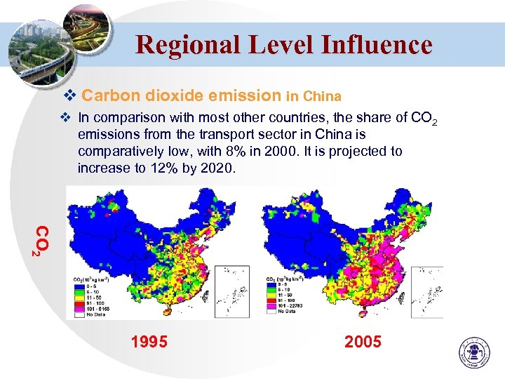 Regional Level Influence v Carbon dioxide emission in China v In comparison with most