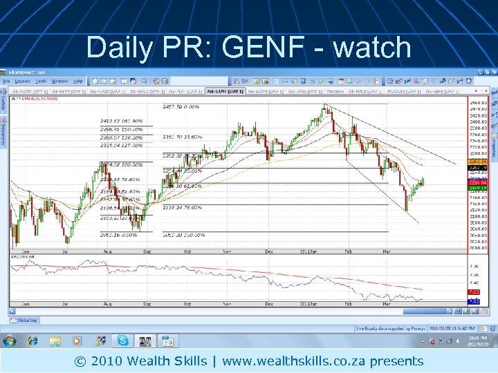 Daily PR: GENF - watch © 2010 Wealth Skills | www. wealthskills. co. za