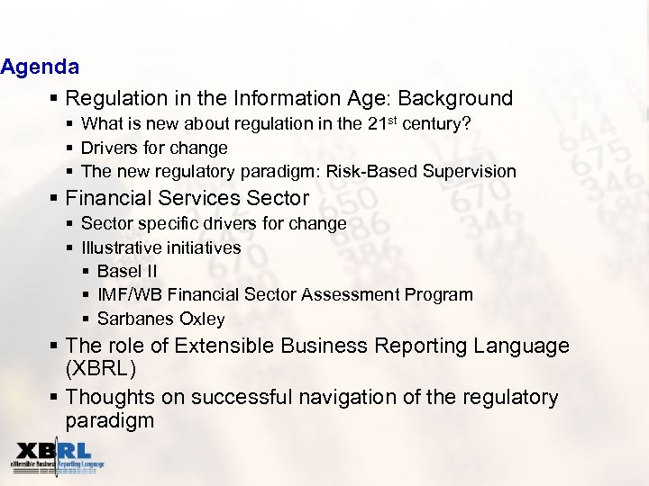 Agenda § Regulation in the Information Age: Background § What is new about regulation