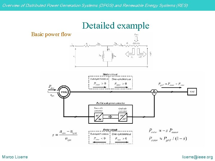 Overview of Distributed Power Generation Systems (DPGS) and Renewable Energy Systems (RES) Detailed example