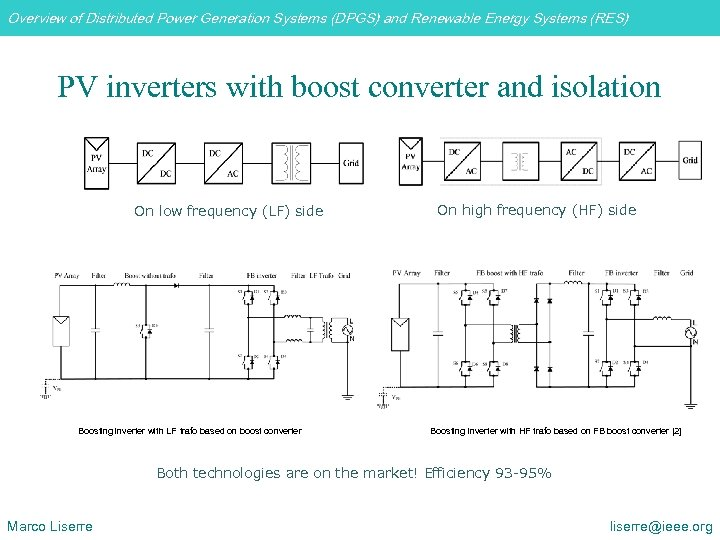 Overview of Distributed Power Generation Systems (DPGS) and Renewable Energy Systems (RES) PV inverters