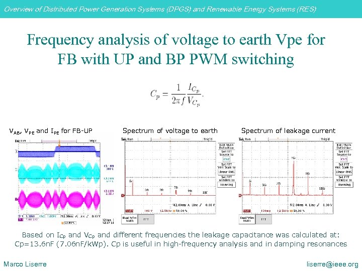 Overview of Distributed Power Generation Systems (DPGS) and Renewable Energy Systems (RES) Frequency analysis