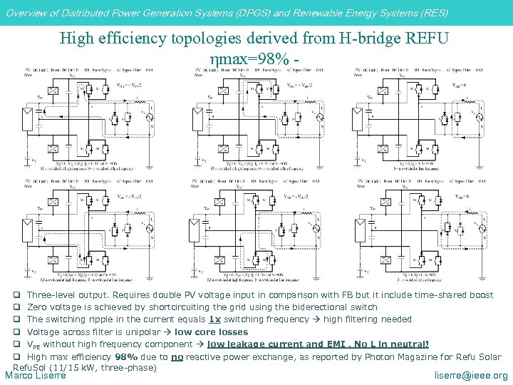 Overview of Distributed Power Generation Systems (DPGS) and Renewable Energy Systems (RES) High efficiency