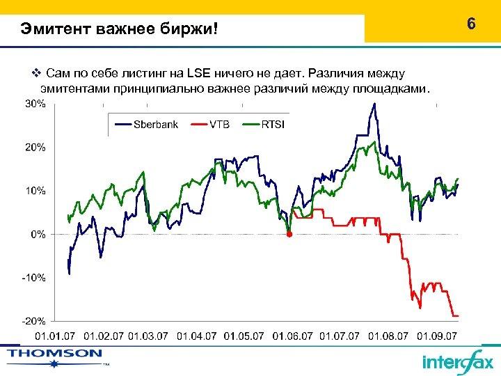 Эмитент важнее биржи! v Сам по себе листинг на LSE ничего не дает. Различия